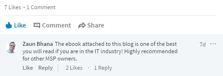 Feedback on the ebook